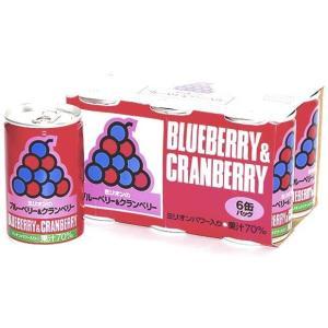 ミリオンブルーベリー&クランベリー 6缶セット |jun-global
