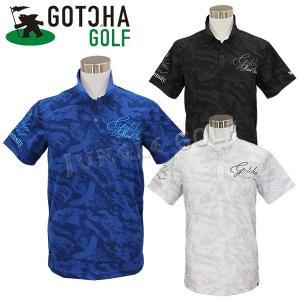 馴染みカモ柄に際立つ3D刺繍がアクセント  同色の迷彩が、シックな雰囲気の総柄ポロシャツ。  吸水速...