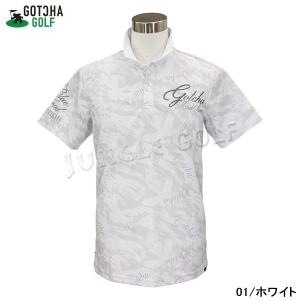 GOTCHA GOLF(ガッチャゴルフ)3D 刺繍 カモフラ イーグル 総柄 メッシュ ポロ (192GG1201) jungle-golf 02
