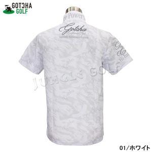 GOTCHA GOLF(ガッチャゴルフ)3D 刺繍 カモフラ イーグル 総柄 メッシュ ポロ (192GG1201) jungle-golf 03