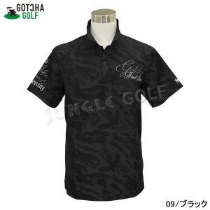 GOTCHA GOLF(ガッチャゴルフ)3D 刺繍 カモフラ イーグル 総柄 メッシュ ポロ (192GG1201) jungle-golf 05