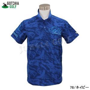 GOTCHA GOLF(ガッチャゴルフ)3D 刺繍 カモフラ イーグル 総柄 メッシュ ポロ (192GG1201) jungle-golf 08