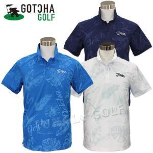 毎年人気のボタニカル柄ポロシャツ。  3DカッティングというGOTCHA GOLFオリジナルのパター...