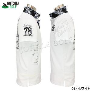 GOTCHA GOLF(ガッチャゴルフ)吸水速乾 モノトーン リーフ 叩き付け ポロ(192GG1212) jungle-golf 04