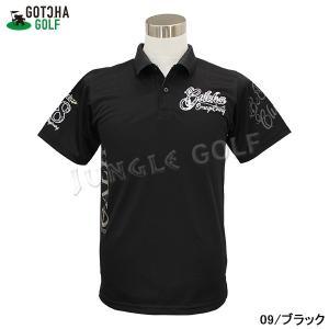 GOTCHA GOLF(ガッチャゴルフ)吸水速乾 モノトーン リーフ 叩き付け ポロ(192GG1212) jungle-golf 05