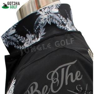 GOTCHA GOLF(ガッチャゴルフ)吸水速乾 モノトーン リーフ 叩き付け ポロ(192GG1212) jungle-golf 08