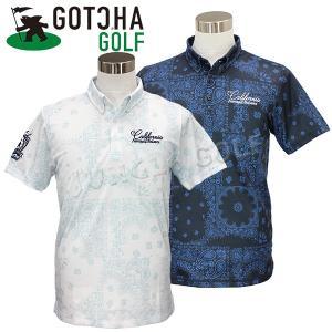 オリジナルのバンダナ柄の総柄ポロシャツ。  ボタンダウン仕様の衿元が上品な印象のポロシャツ。 バンダ...
