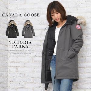 CANADA GOOSE カナダグース レディース ダウンジャケット VICTORIA PARKA ヴィクトリア パーカー コート ファー 黒|jungle-jungle