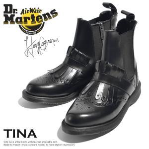 ドクターマーチン レディース ブーツ ショート Dr.Martens TINA ティナ サイドゴア 黒|jungle-jungle