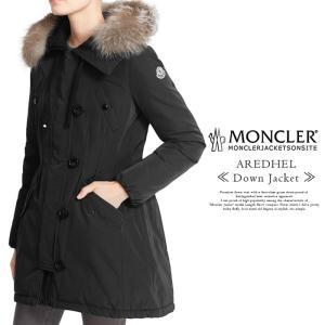 MONCLER モンクレール レディース AREDHEL アーデル ブラック ダウンコート ダウンジャケット フォックスファー  3 4 レディースL相当 XL相当 ブランド 海外 冬|jungle-jungle