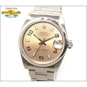 ロレックス デイトジャスト Ref.78240 Y番SS 自動巻きピンク文字盤 飛びアラビアボーイズ腕時計|junglejungle