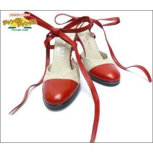 シャネル 靴ミュールリボン レザー レッド表記サイズ35B(実寸約23cm)キュートなミュール【417-041】|junglejungle