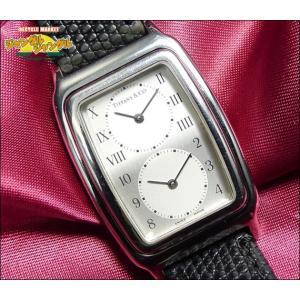 ティファニー TIFFANY レディース腕時計 クラシック スクエア デュアルタイム シルバー文字盤 SS/革 クォーツ|junglejungle
