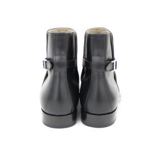 【中古】 エルメス ショートブーツ メンズ ブラック レザー 表記サイズ41 1/2|junglejungle|03