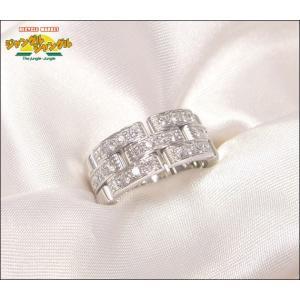 カルティエ パンテールリング ハーフダイヤモンド K18WG(750) 表記サイズ50|junglejungle