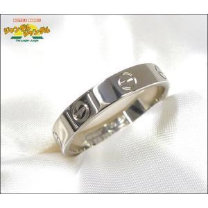 カルティエ ミニラブリング K18WG(750) ホワイトゴールド 表記サイズ:60 指輪|junglejungle