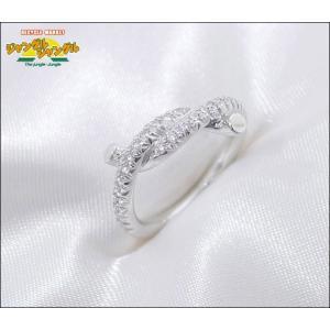 カルティエ アントルラセ ダイヤ リング K18WG(750 18K) ホワイトゴールド 表記サイズ:46 指輪中古 junglejungle