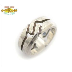 シルバー925 プレスロゴ リング 表記サイズ:7 指輪中古 junglejungle