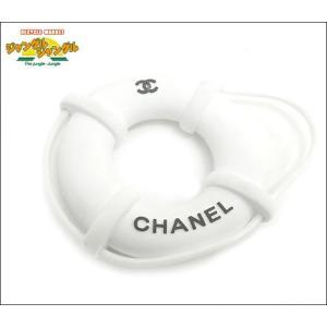 シャネル ストラップ 浮き輪モチーフ ラバー ホワイト 2008年 ノベルティ|junglejungle