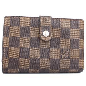 【中古】ルイヴィトン ポルトフォイユ ヴィエノワ 二つ折り財布 がま口 ダミエ エベヌ N61674|junglejungle
