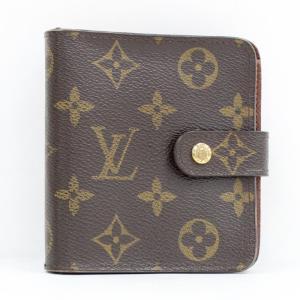 【中古】ルイヴィトン コンパクトジップ 二つ折り財布 モノグラム M61667|junglejungle