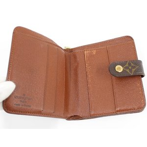 【中古】ルイヴィトン コンパクトジップ 二つ折り財布 モノグラム M61667|junglejungle|02