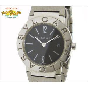 ブルガリ BVLGARI レディース腕時計 SS クオーツ ブラック文字盤|junglejungle