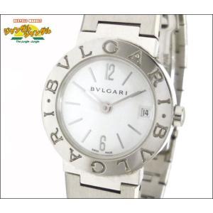 ブルガリ BVLGARI レディース腕時計 SS クオーツ ホワイト(白)文字盤中古|junglejungle