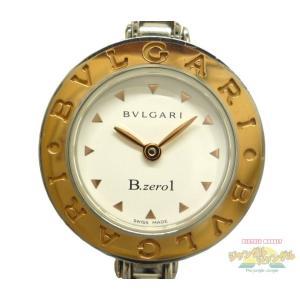 ブルガリ BVLGARI レディース腕時計 B-zero1 ビーゼロワン バングルウォッチ K18PG×SS クオーツ ホワイト文字盤 BX22SG|junglejungle