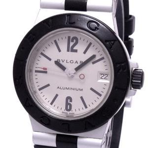 【中古】ブルガリ アルミニウム ボーイズ腕時計 クォーツ ラバーベルト シルバー文字盤 AL32A|junglejungle