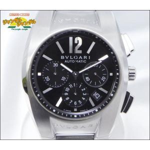 ブルガリ BVLGARI エルゴン クロノ EG 40S CH ブラック文字盤 SS 自動巻き|junglejungle