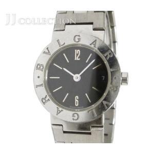 【中古】 ブルガリ レディース腕時計 ブルガリブルガリ SS クオーツ ブラック文字盤 [fu]|junglejungle