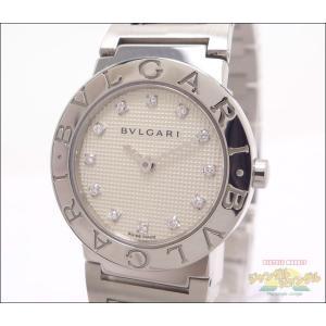 ブルガリ BVLGARI BB26WSS 12P クオーツ ホワイト文字盤 レディース腕時計 ダイヤインデラックス|junglejungle