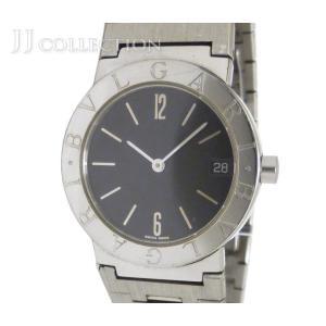 【中古】 ブルガリ ボーイズ腕時計 ブルガリブルガリ SS クオーツ ブラック文字盤 [wa]|junglejungle