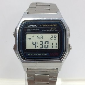 【中古】カシオ 腕時計 メンズ デジタル クオーツ ブラック A158W[jggW]|junglejungle