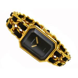 シャネル レディース腕時計 プルミエール Lサイズ GP×レザー クオーツ ブラック文字盤 junglejungle 02