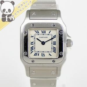 【中古】Cartier サントスガルベSM 腕時計 W20056D6 レディース クォーツ SS カルティエ 【Watch】【レディース】|junglejungle