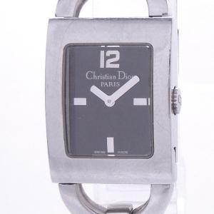 【中古】クリスチャンディオール マリス レディース腕時計 クォーツ SS ブラック文字盤 D78-109|junglejungle