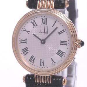 【中古】ダンヒル レディース腕時計 K18 750YG ゴールド クォーツ シルバー文字盤 junglejungle