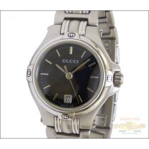 グッチ レディース腕時計 SS クオーツ ブラック文字盤
