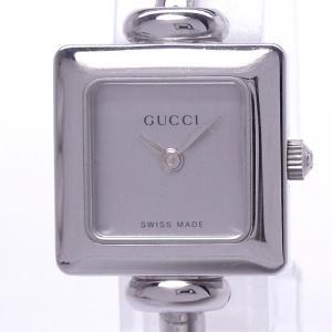 【中古】グッチ バングルウォッチ レディース腕時計 クォーツ SS シルバー文字盤 1900L/YA019509|junglejungle