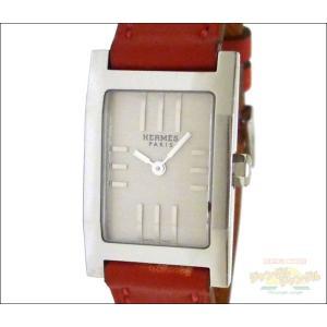 エルメス レディース腕時計 タンデム SS×レザー(レッド) クオーツ シルバー文字盤 junglejungle