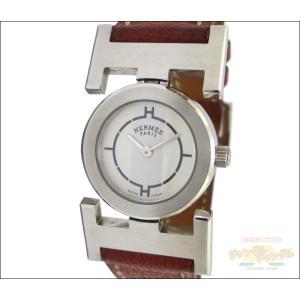エルメス レディース腕時計 パプリカ SS×レザー(ブラウン) クオーツ ホワイト×シルバー文字盤 □F刻印 junglejungle