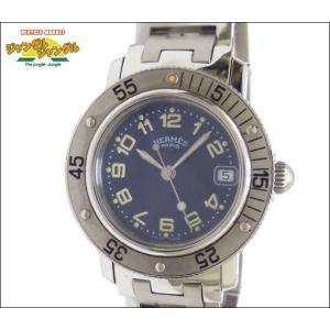 エルメス レディース腕時計 クリッパーダイバーズ CL5.210 SS クオーツ ブルー文字盤 junglejungle