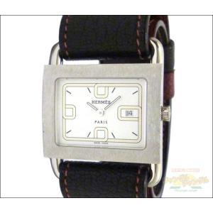 エルメス レディース腕時計 バレニア SS×レザー クオーツ ホワイト文字盤 S刻印 替えベルト付き junglejungle