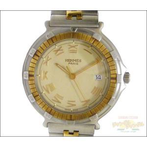 エルメス メンズ腕時計 キャプテンニモ SS×GP クオーツ アイボリー文字盤 junglejungle