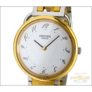 エルメス ボーイズ腕時計 アルソー コンビ SS×GP クオーツ ホワイト文字盤 junglejungle