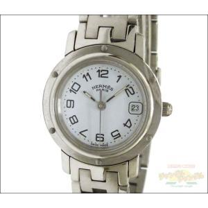 エルメス レディース腕時計 クリッパー SS クオーツ ホワイト文字盤 junglejungle