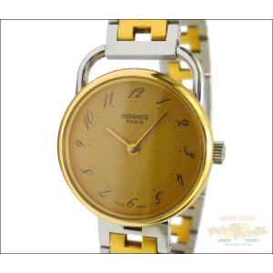 エルメス レディース腕時計 アルソー SS×GP コンビ クオーツ ゴールド文字盤 junglejungle