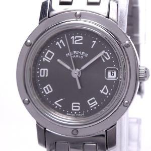 【中古】エルメス クリッパー レディース腕時計 クォーツ SS グレー文字盤 CL4.210|junglejungle